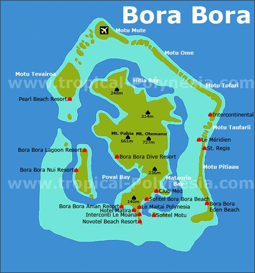 Bora Bora Landkarte